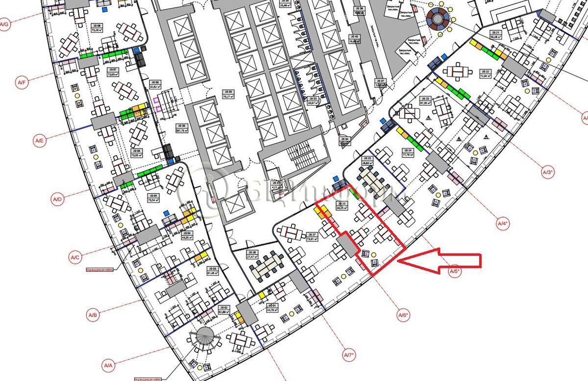 Объявление № 687398: Аренда офиса 56.64 м² - Для площади687398