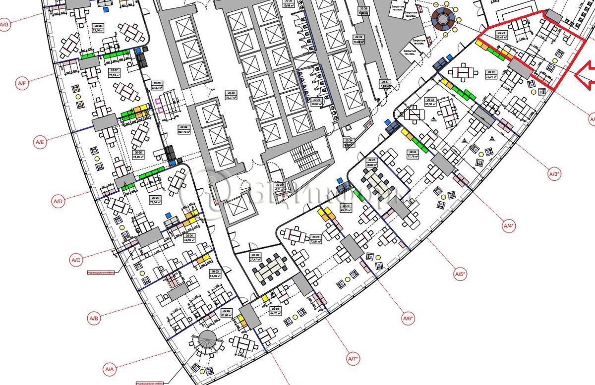Аренда офиса 68.4 м² - Для площади687394