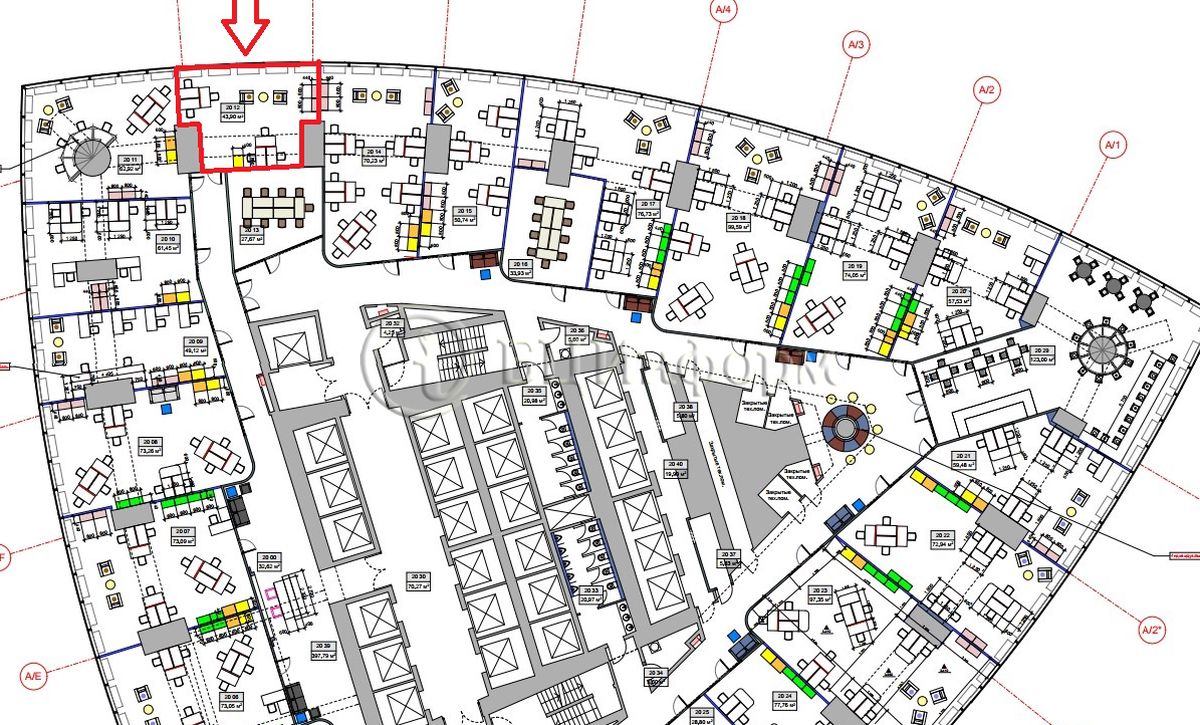 Объявление № 687382: Аренда офиса 50.49 м² - Для площади687382