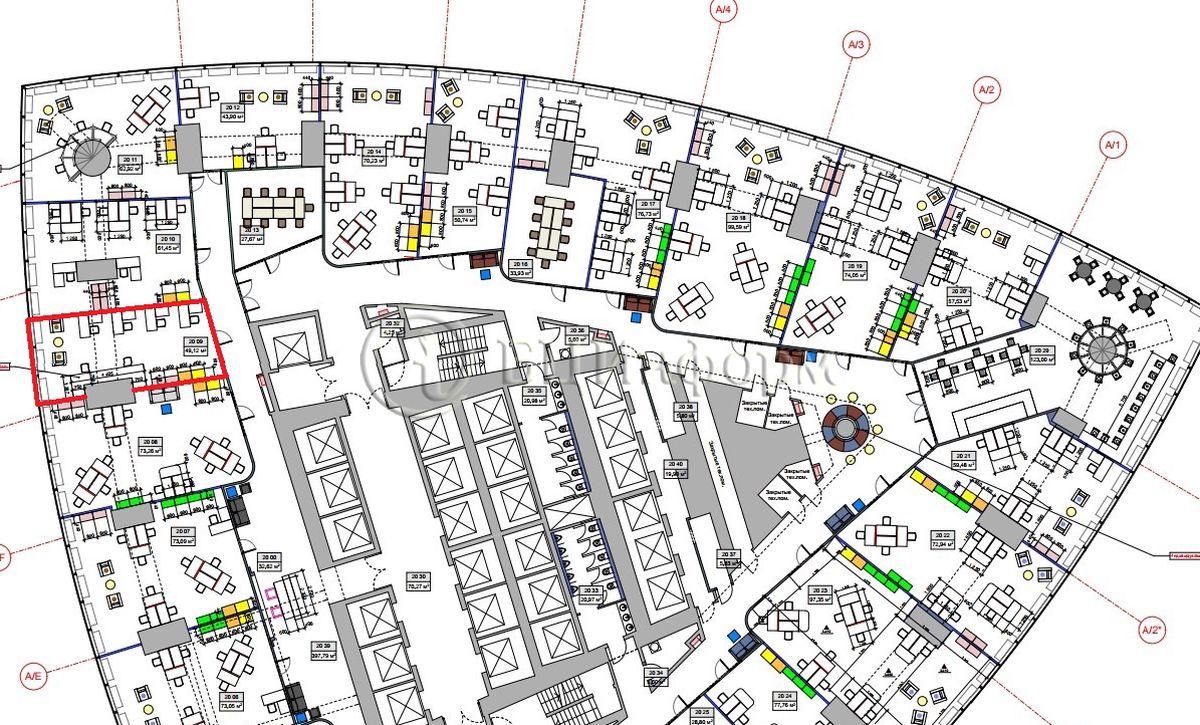 Аренда офиса 56.49 м² - Для площади687379
