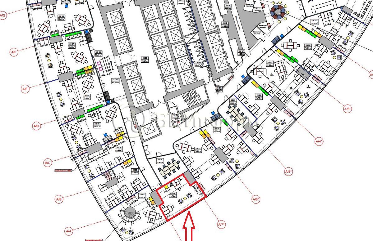 Аренда офиса 51.41 м² - Для площади686652