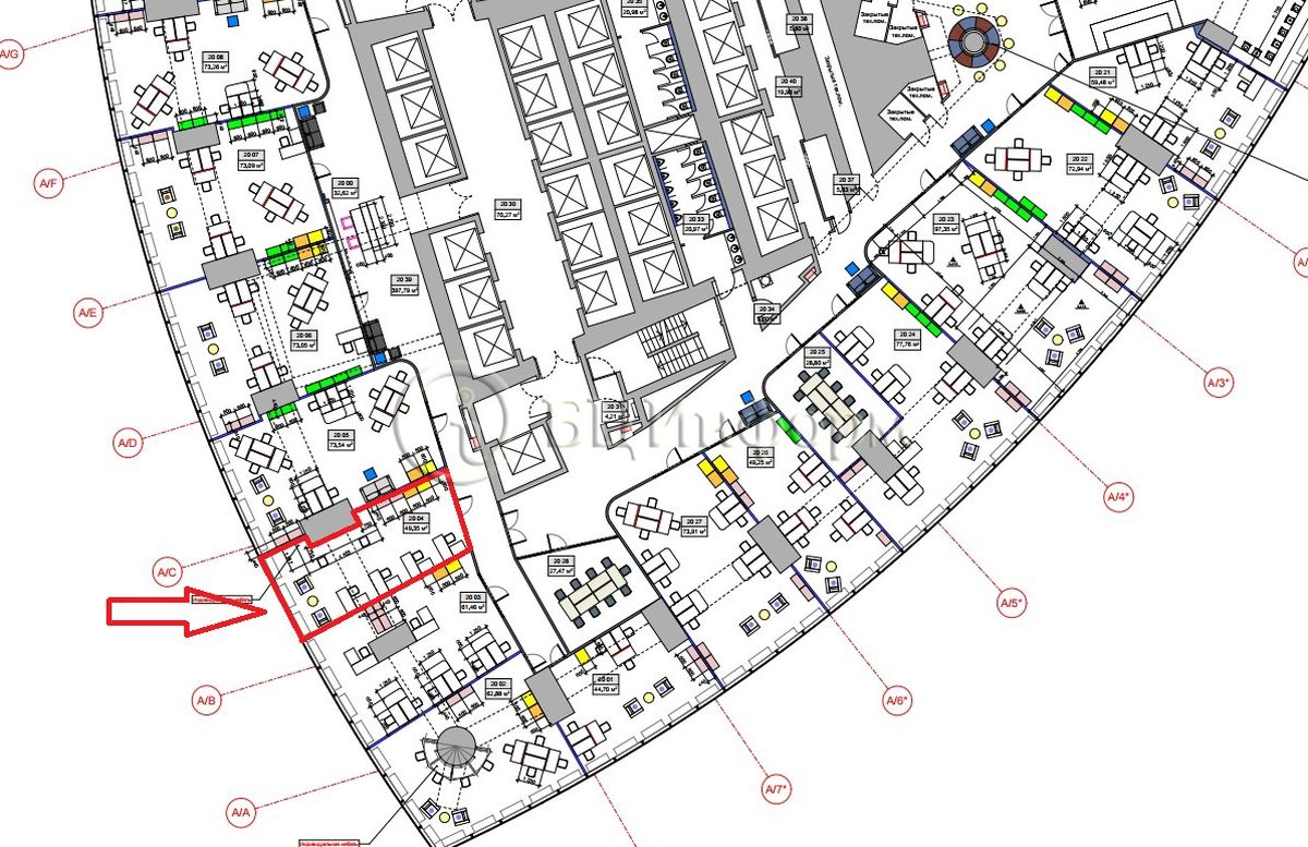Аренда офиса 56.75 м² - Для площади686654
