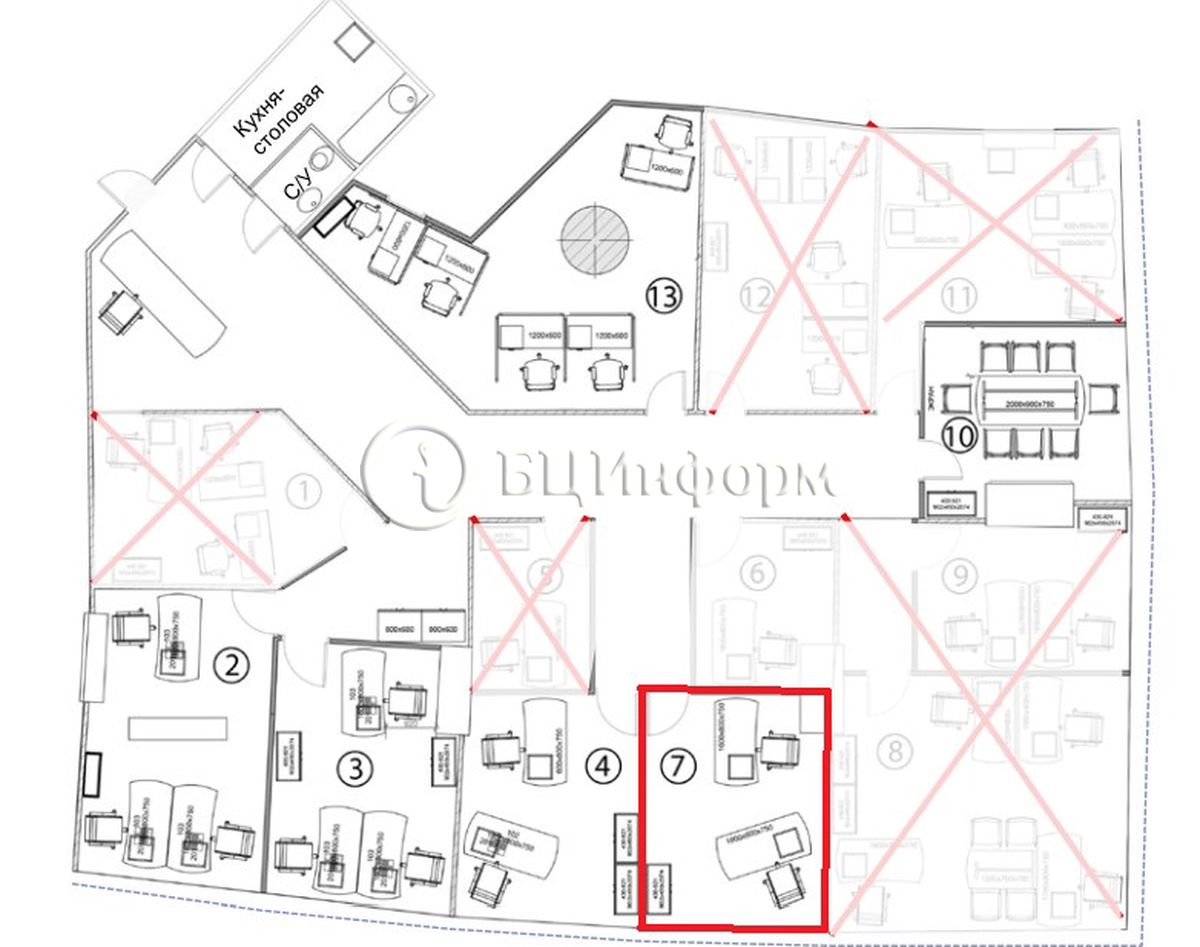 Объявление № 689905: Аренда офиса 11 м² - Для площади689905