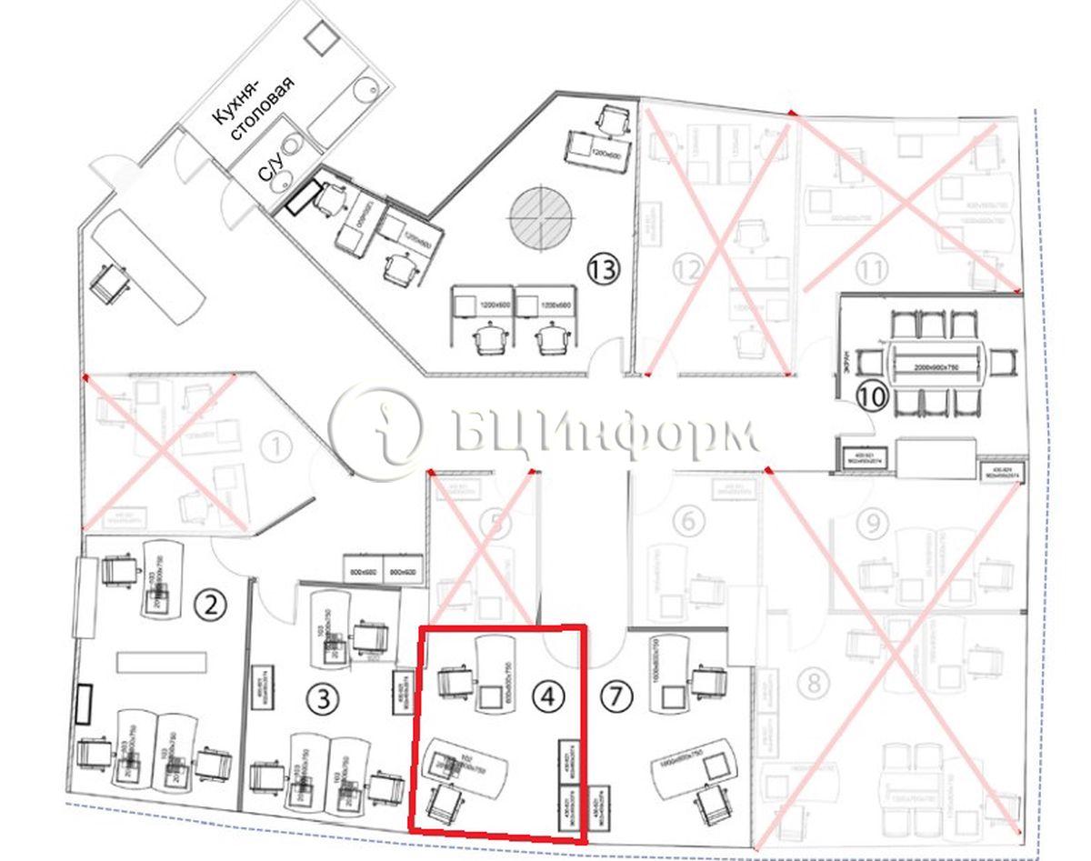 Объявление № 689906: Аренда офиса 11 м² - Для площади689906