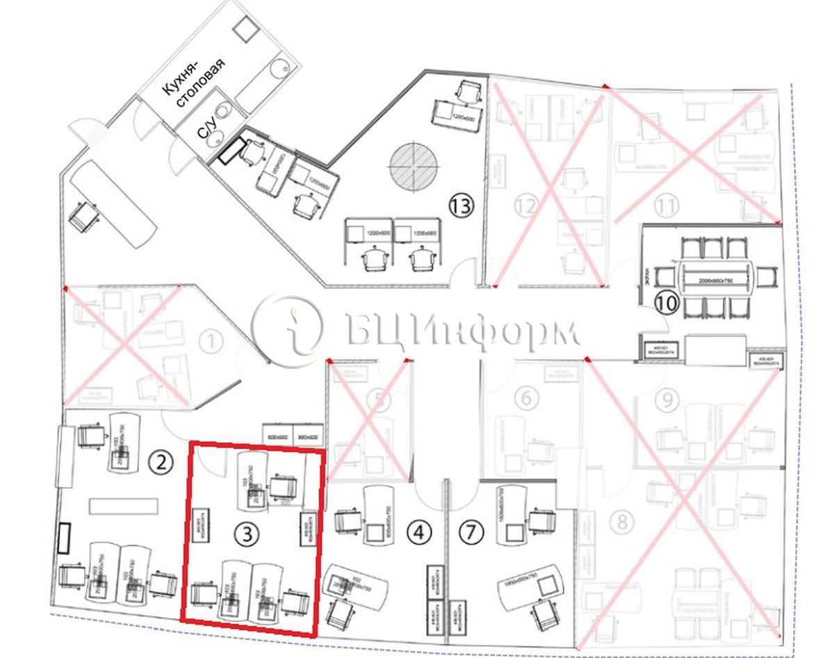 Объявление № 689904: Аренда офиса 13.5 м² - Для площади689904