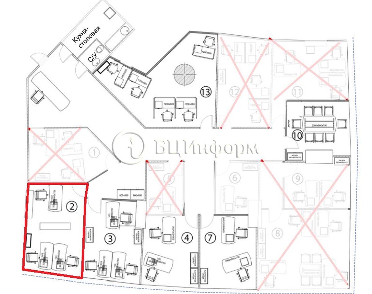Объявление № 689903: Аренда офиса 20 м² - Для площади689903