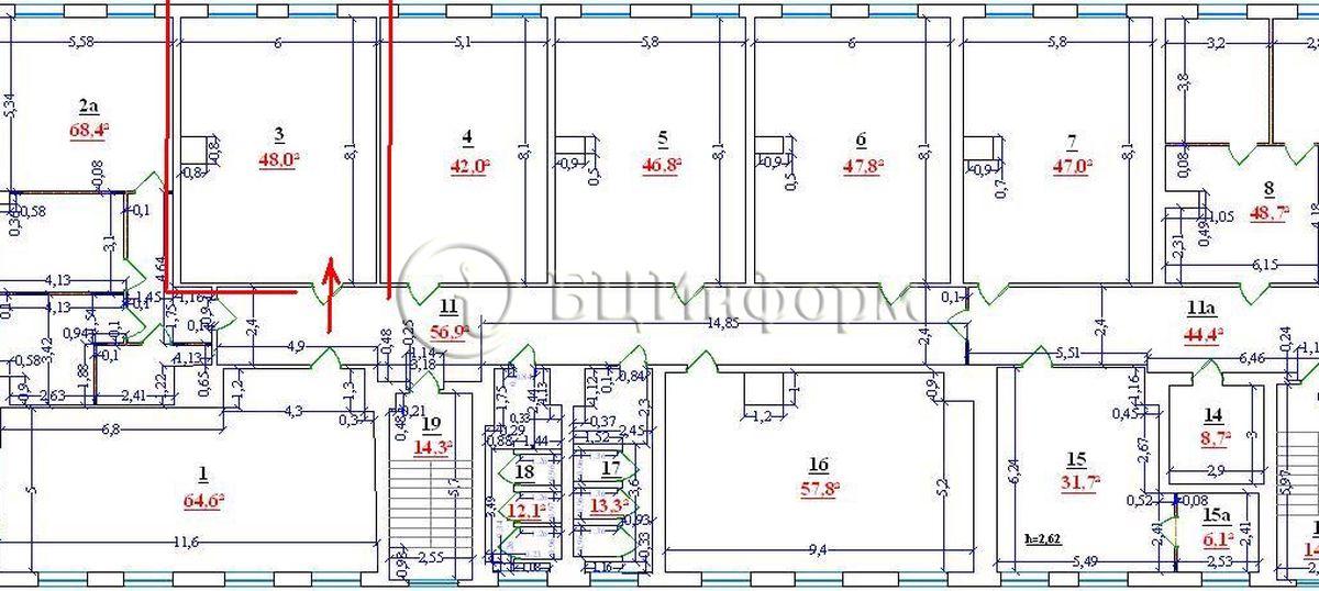 Объявление № 508114: Аренда офиса 47.8 м² в БЦ Персона Грата